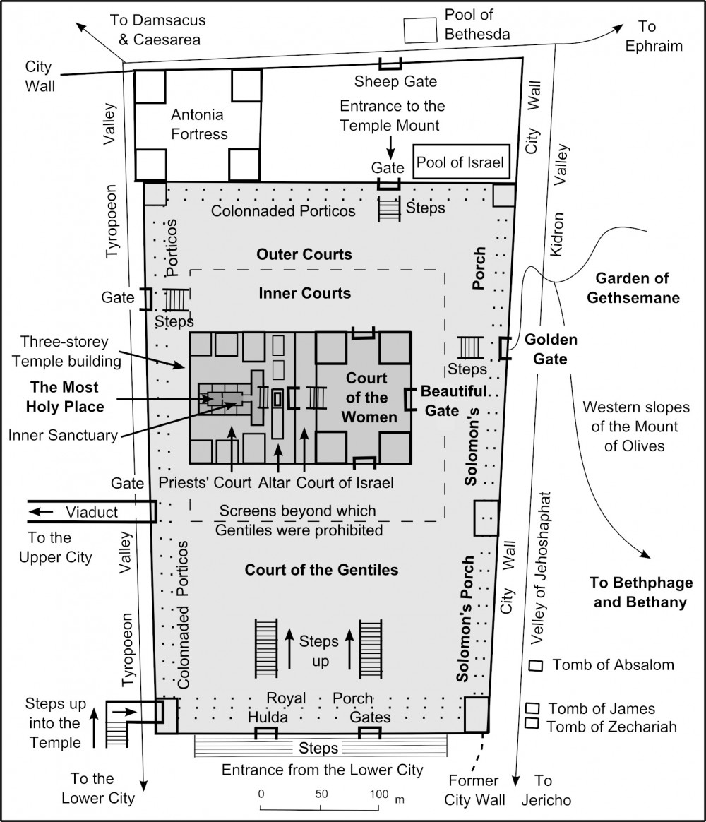 Map of Herod's Temple