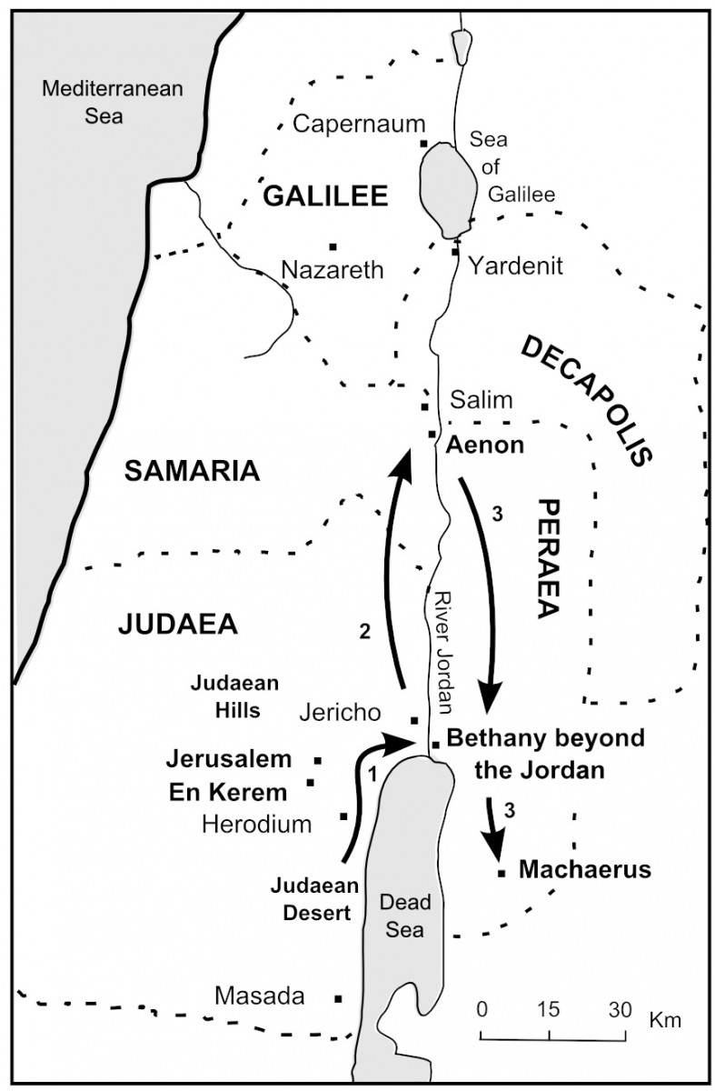 Map of John's Journeys