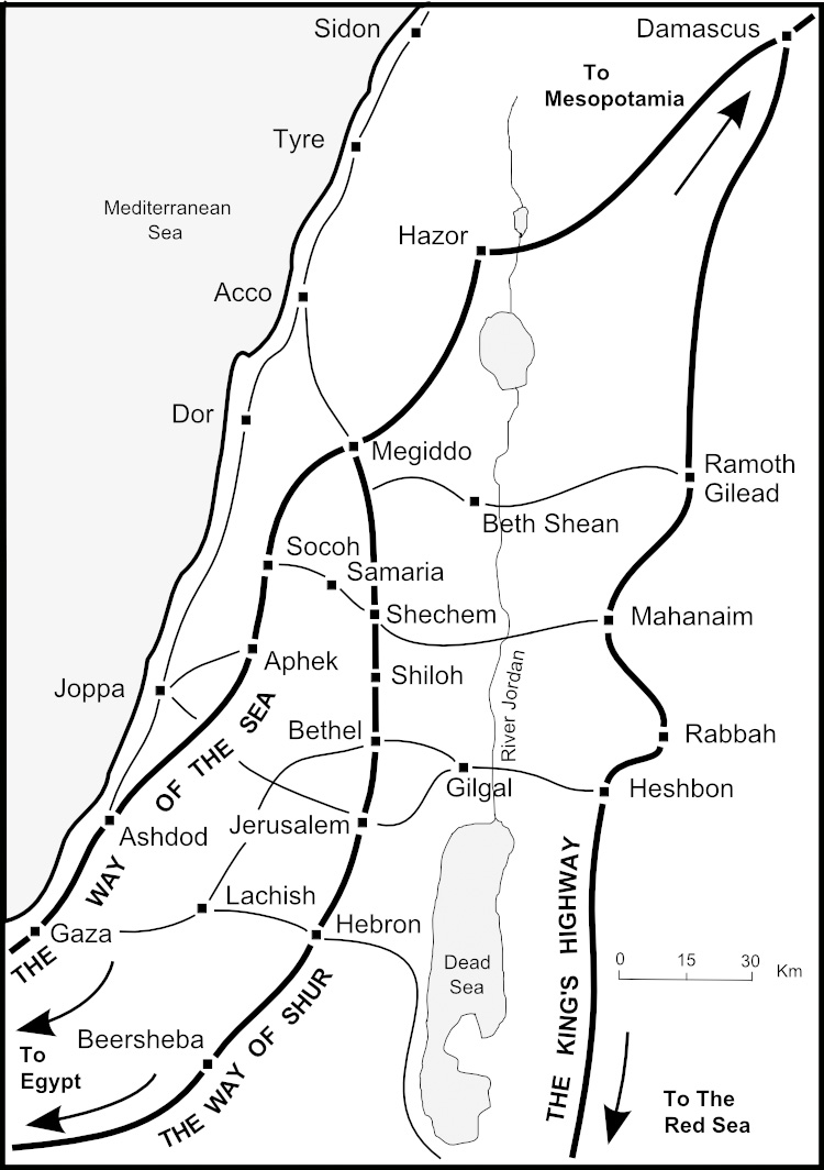 Routes across Palestine