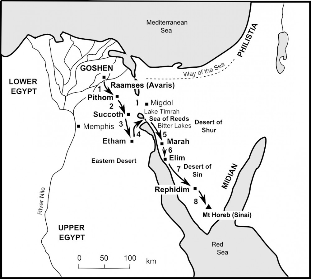 From Egypt to Sinai