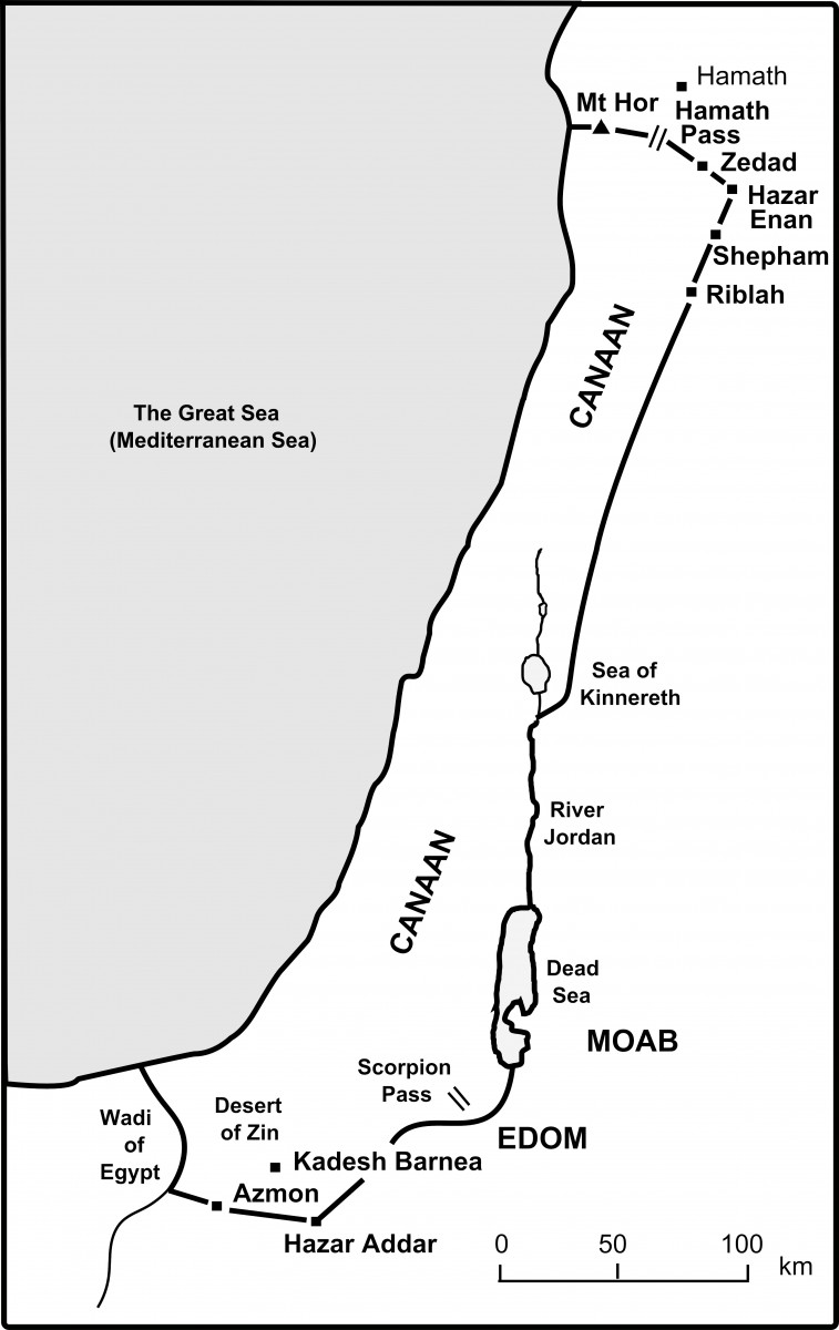 the bible journey the boundaries of canaan are agreed
