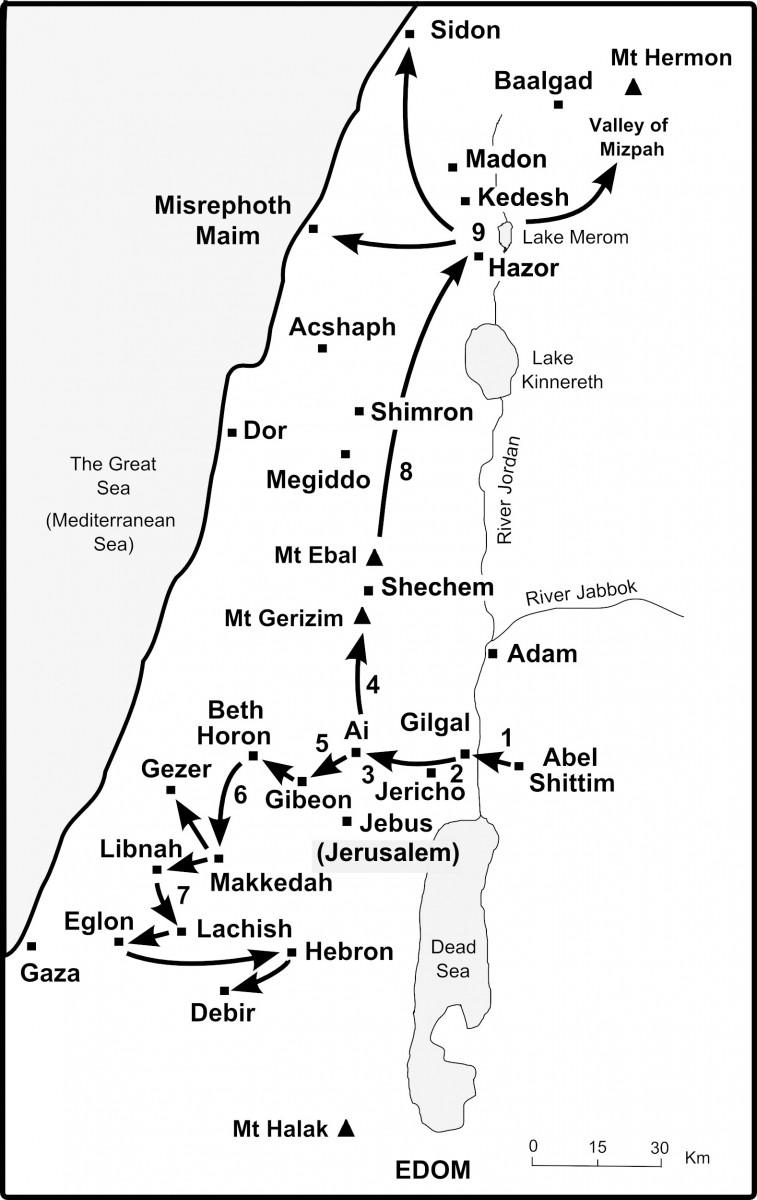 The Bible Journey The Israelites Cross The River Jordan