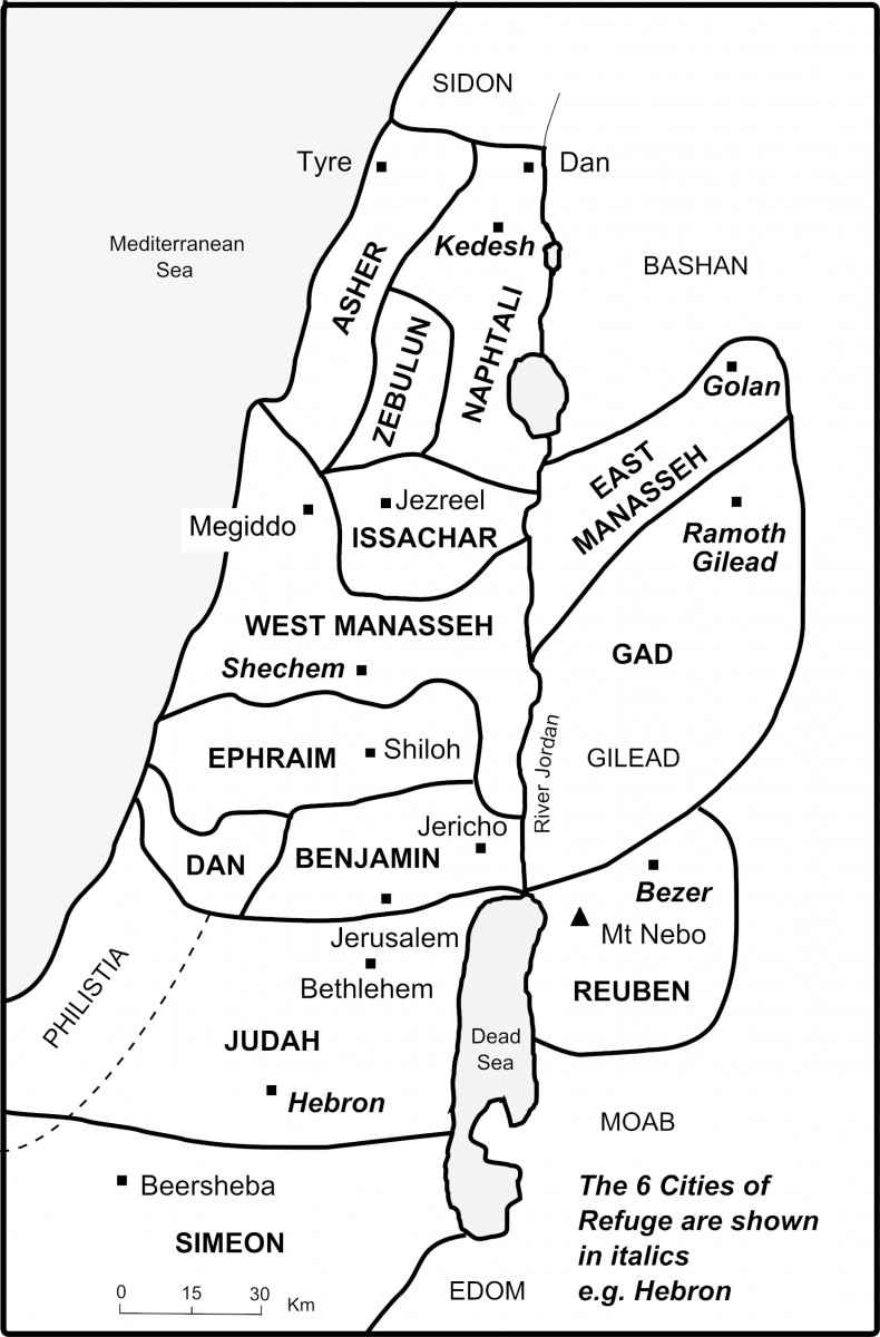 The Bible Journey Canaan Is Divided Among The Twelve Tribes
