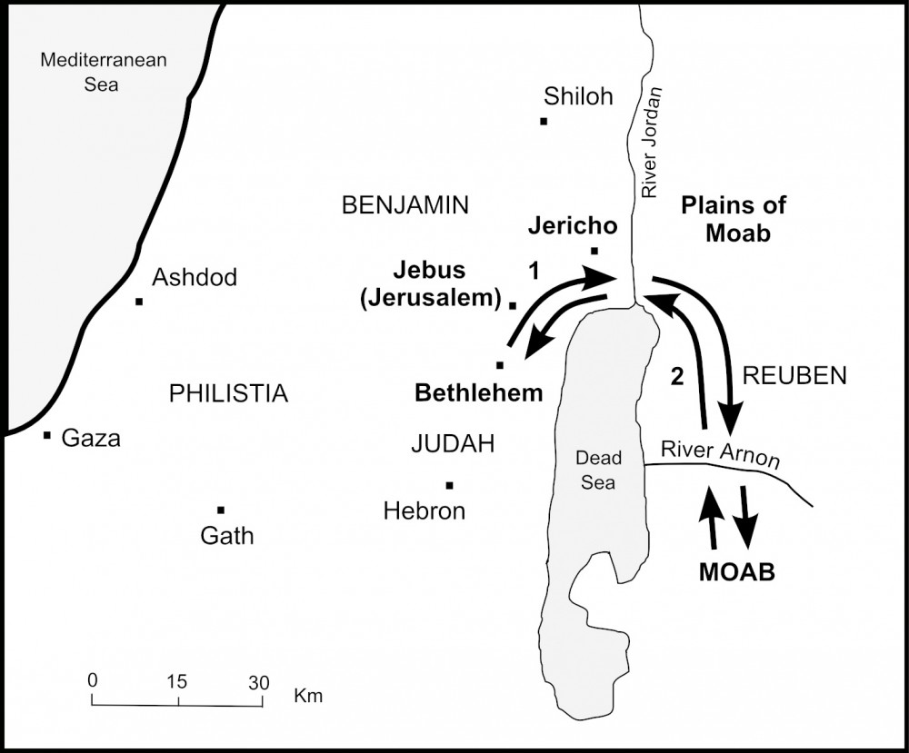 The Bible Journey Ruth S Journey To Bethlehem