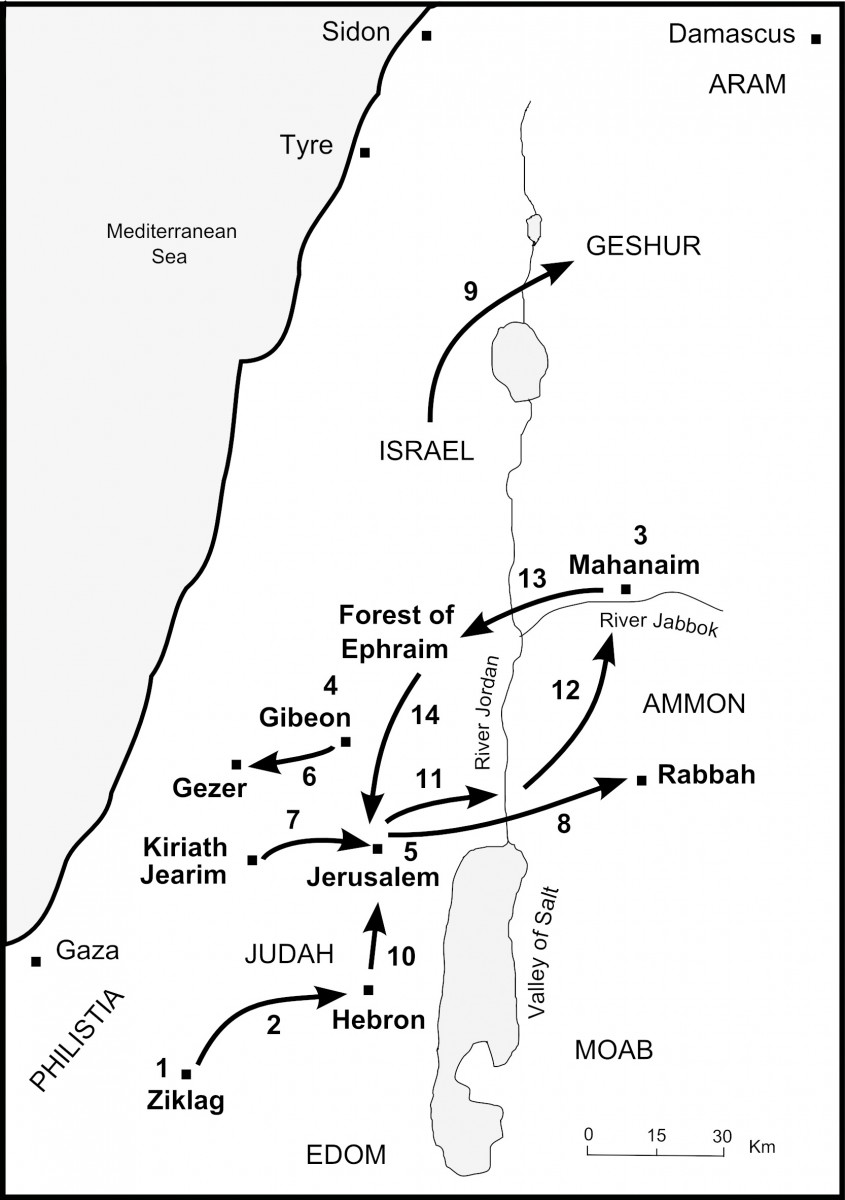 Map of David And Absalom