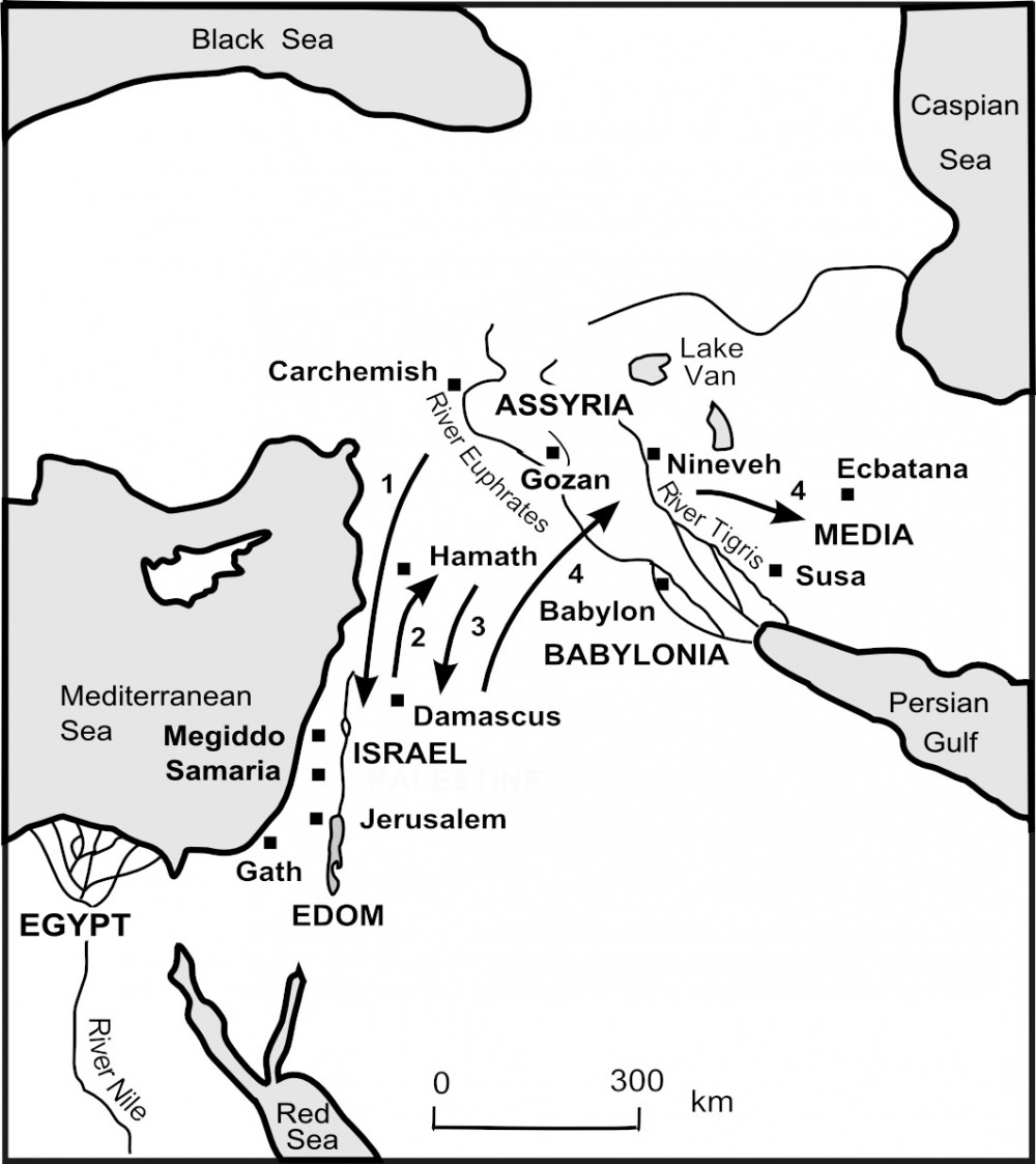 Map - Israel goes into exile