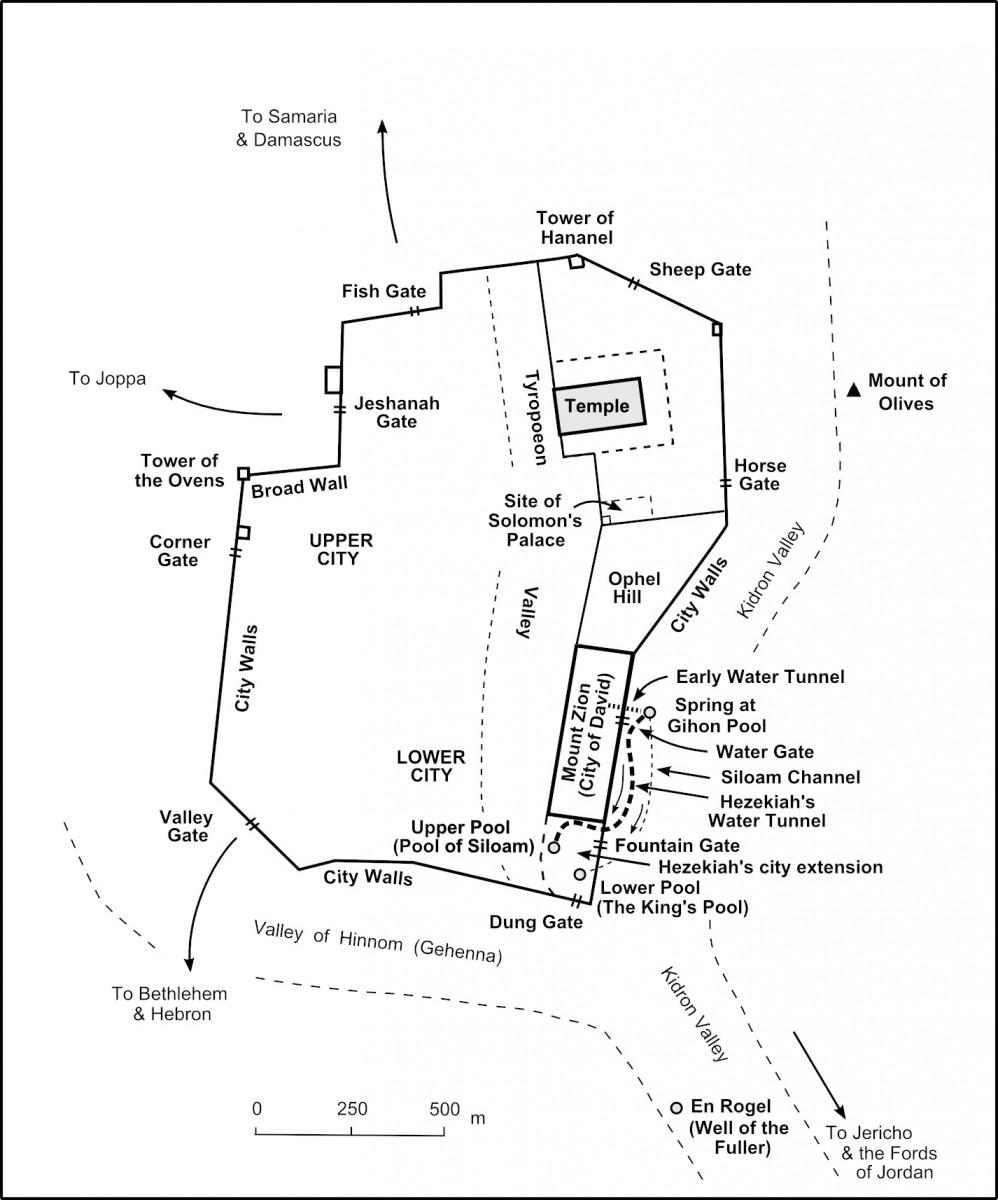The bible journey map 61 nehemiahs jerusalem ccuart Image collections