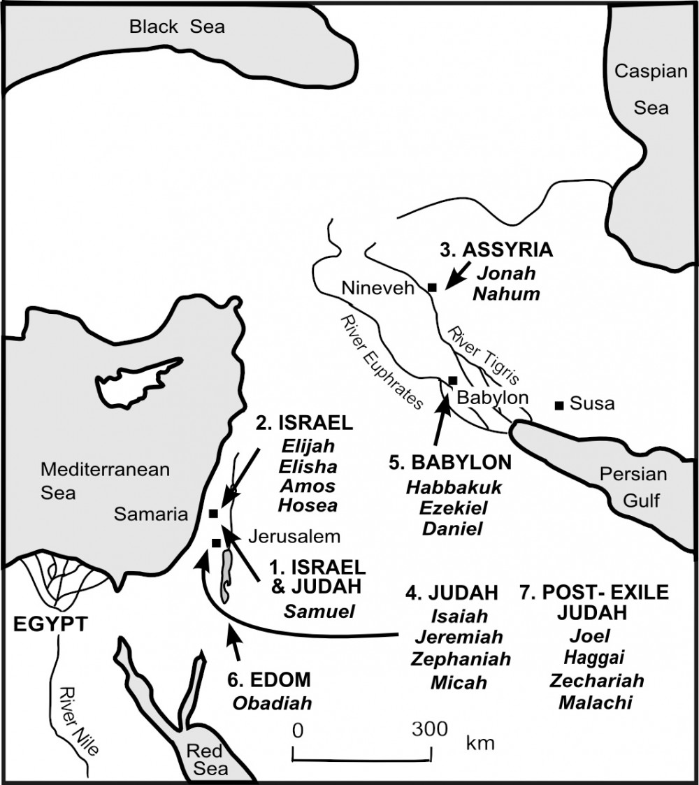 Map - The World of the Old Testament Prophets