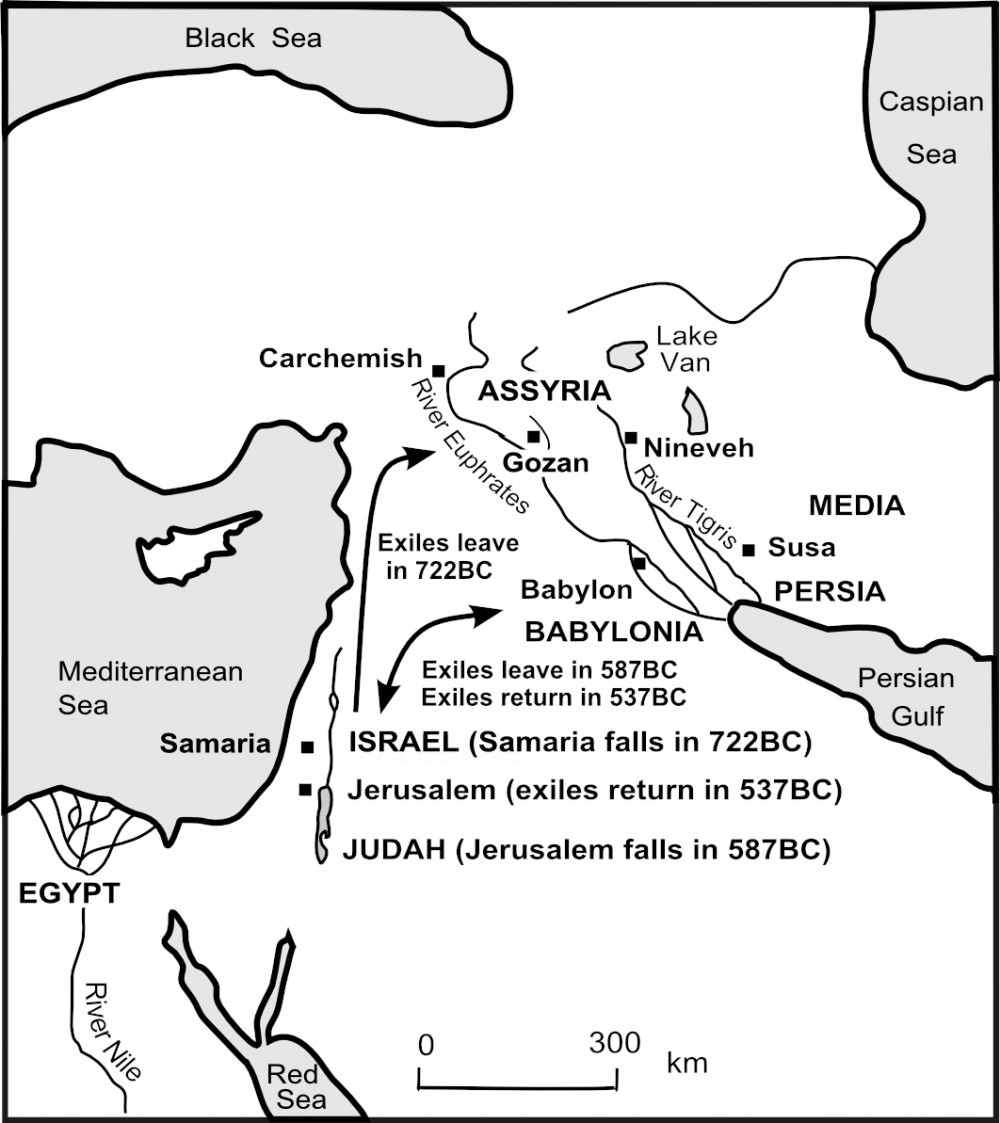 Map OT31 Israel & Judah go into exile