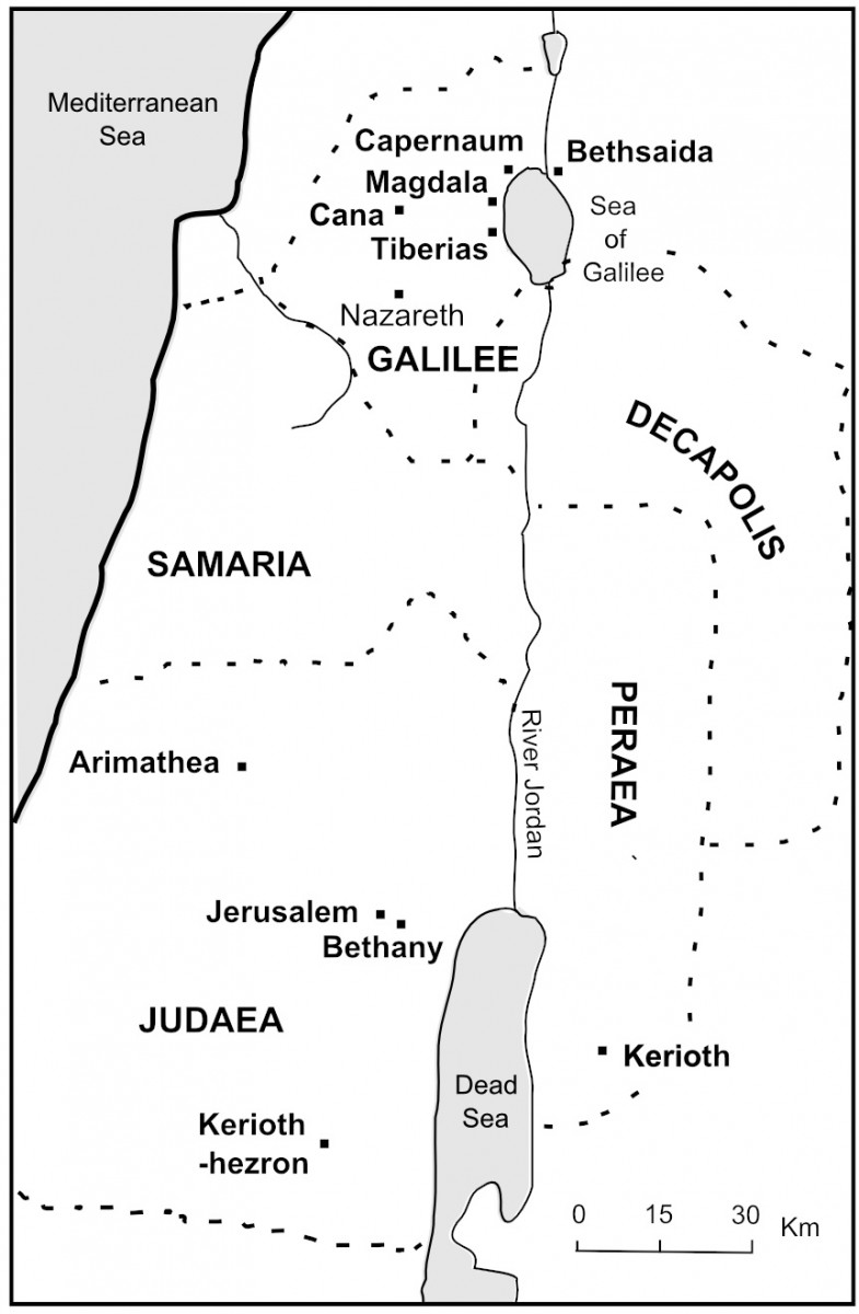 Map showing followers of Jesus