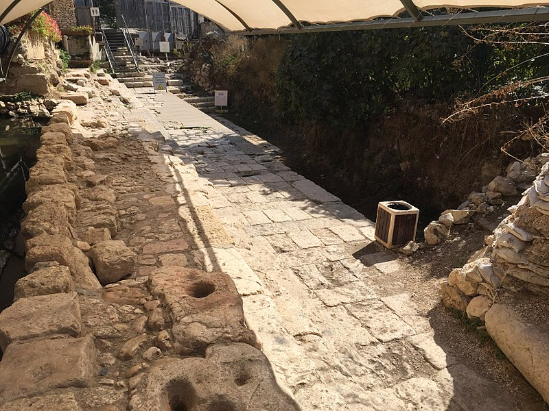 Remains of the Lower Pool of Siloam in Jerusalem (by Markbarnes)