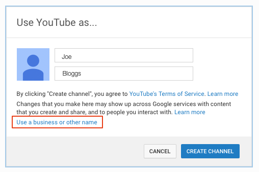 Image of YouTube Registration