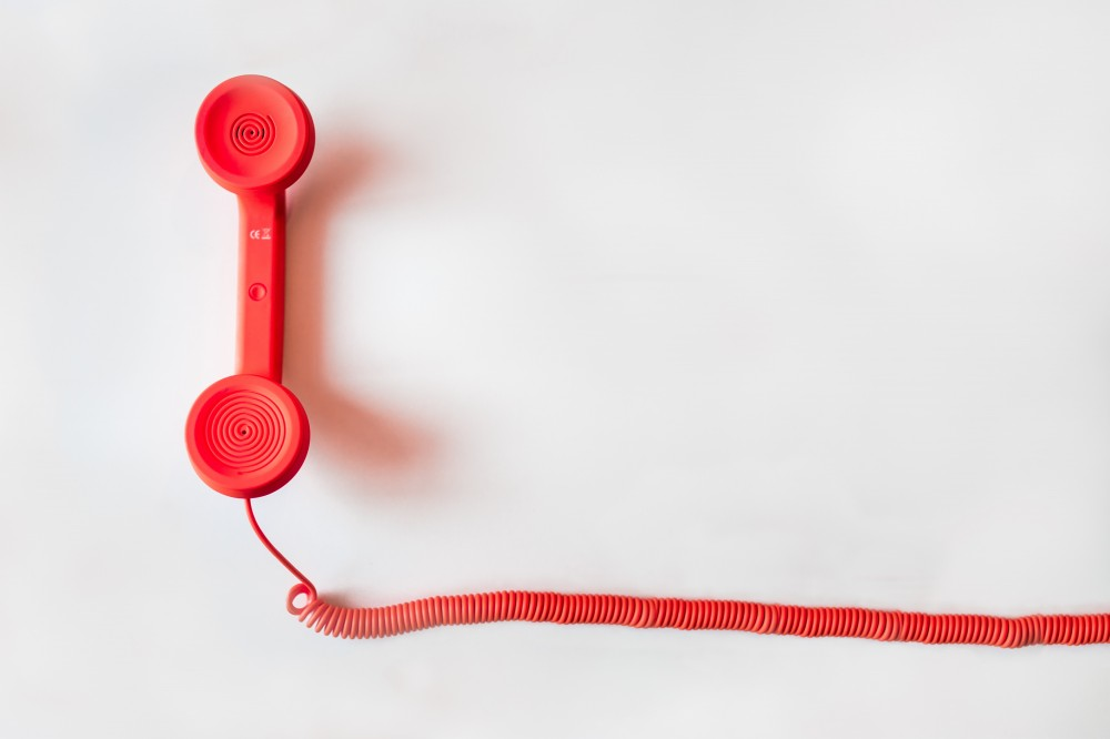image of a telephone handset