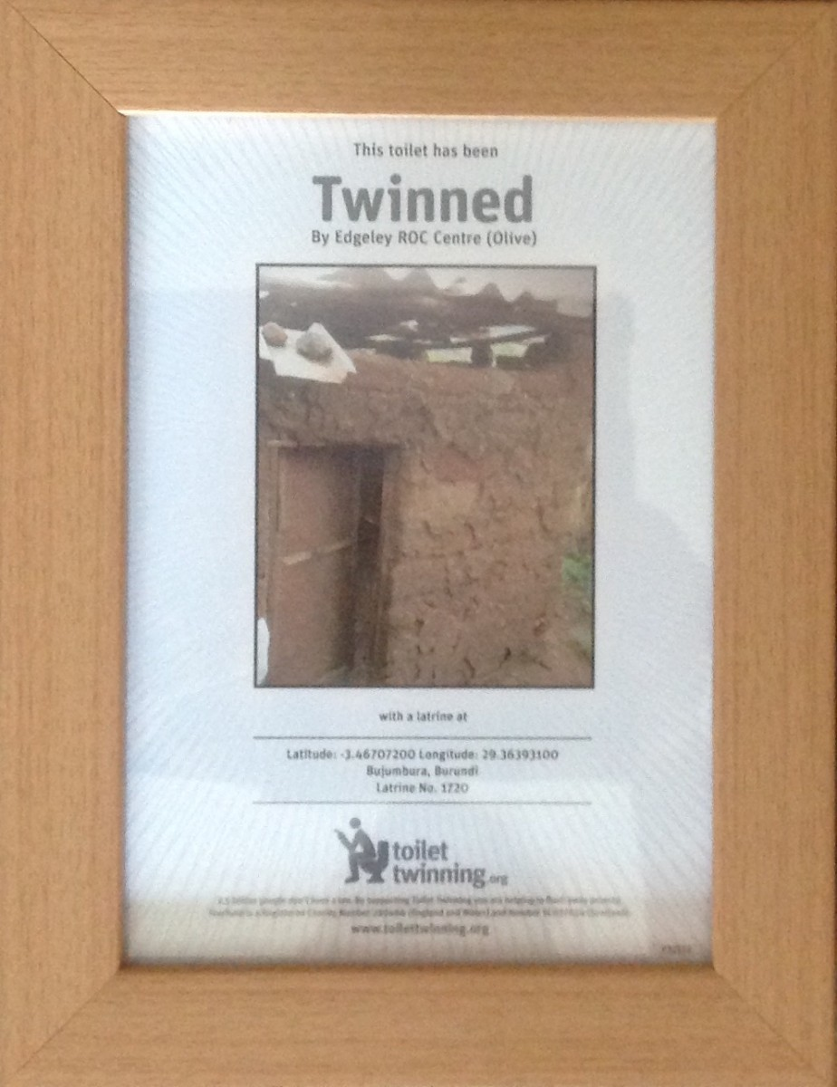 image of toilet twinning certificate