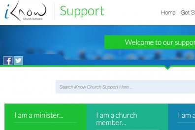 Open New iKnow Church support site