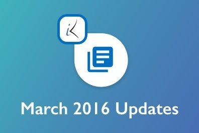 Open March 2016 Updates