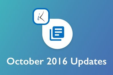 Open October 2016 Updates