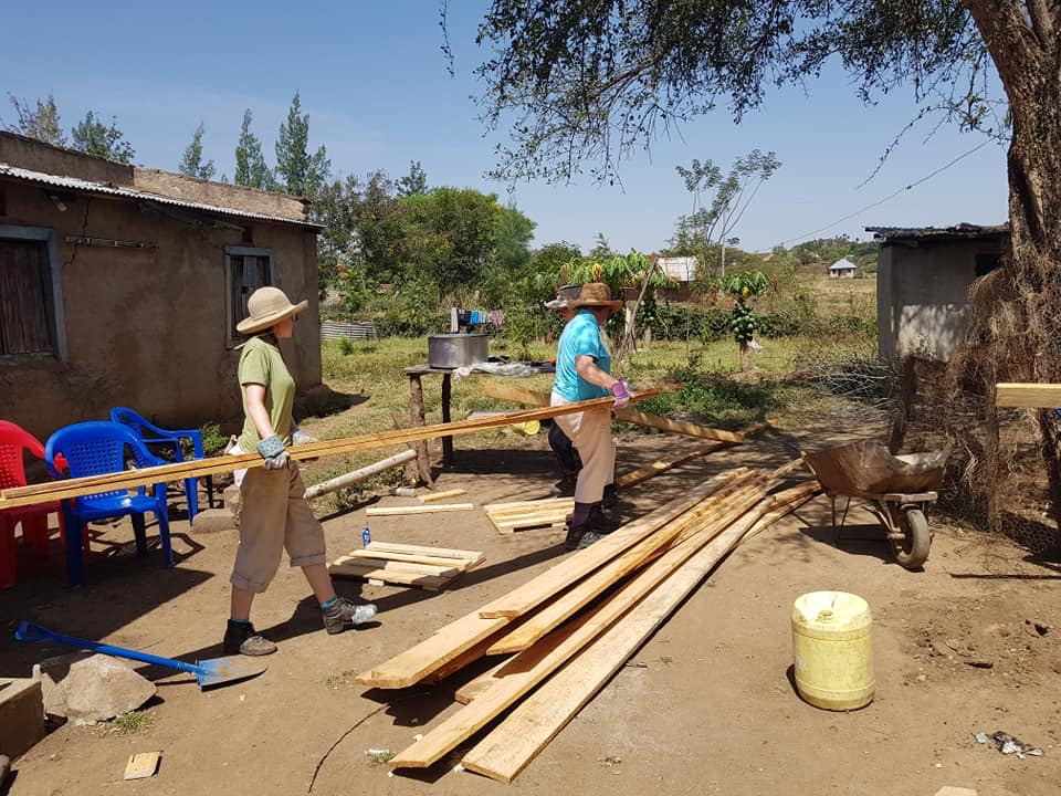 Building the goat shed