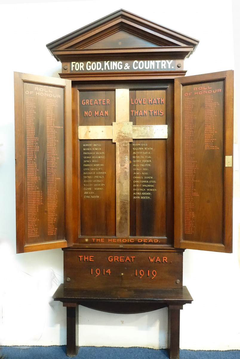 Roll of Honour after Restoration