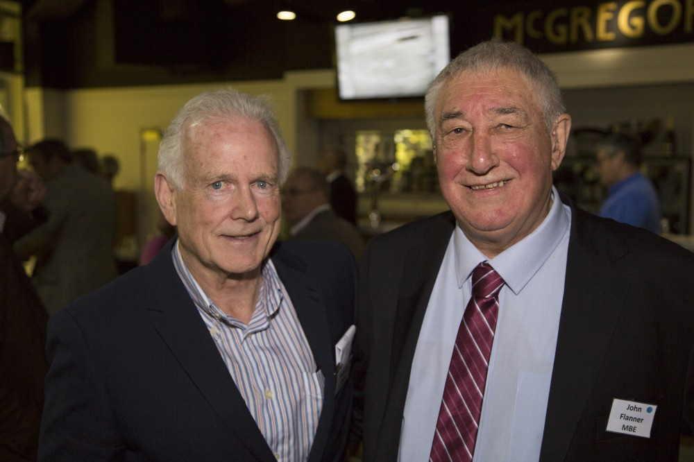 Malcolm Page with John Flanner MBE