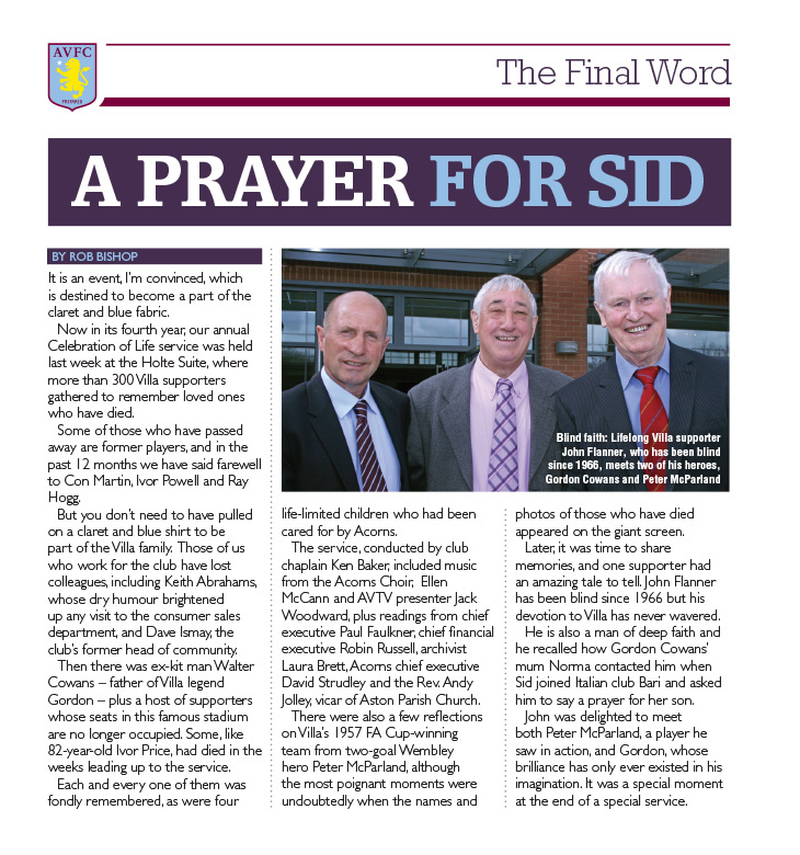 A Prayer for Sid
