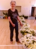 Sue Bond showing off the flowers!