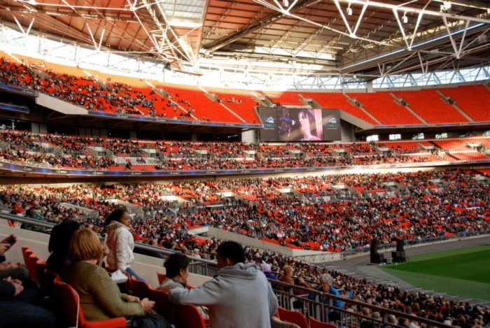 Rebekah on the Main Screen at Wembley