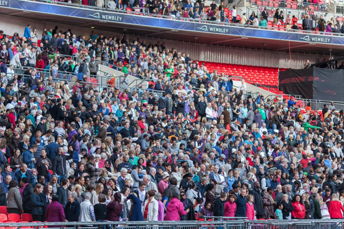 Great crowd at Wembley 2012