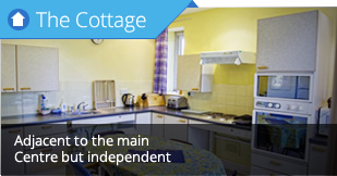 Self contained self catering cottage but can be rented for sole use with the Centre