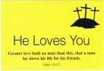 He Loves You (Yellow Postcard) - 3p