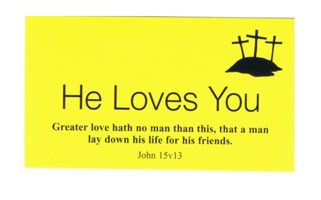 He Loves You (Yellow Business Card) - 2p