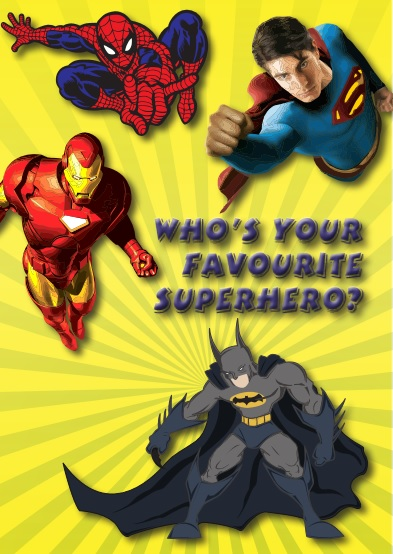 Who's your favourite superhero - 8p