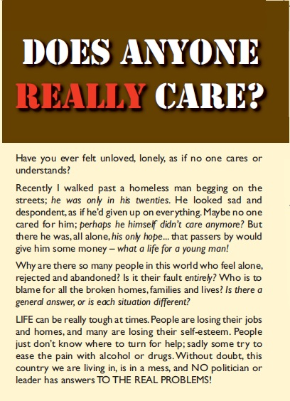 Does anyone really care? - 3p