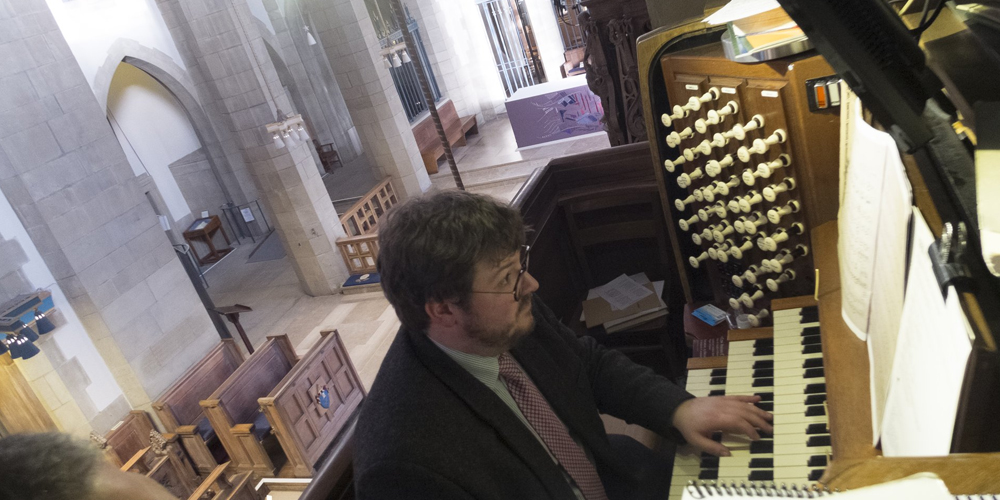 Alex at the Organ.
