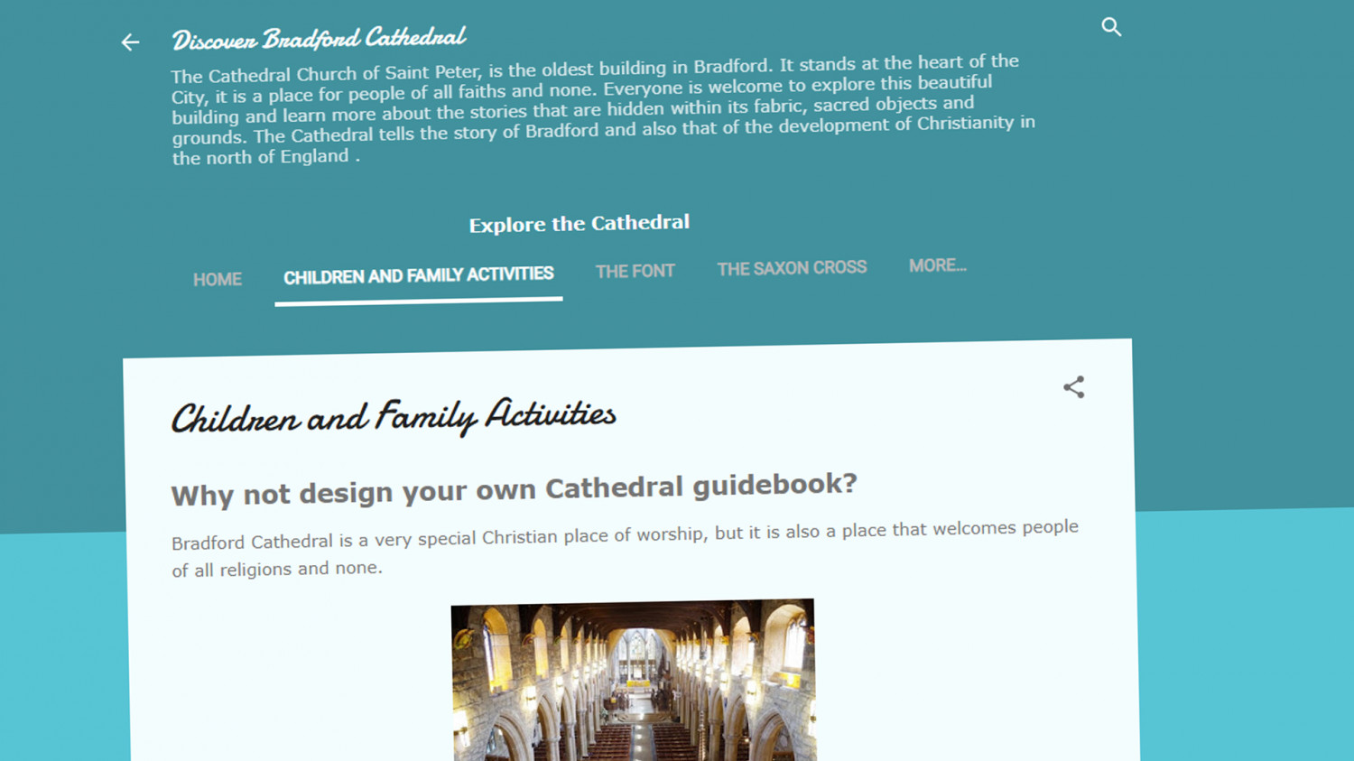 Discover Bradford Cathedral Blog.