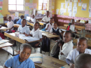 Children at school, a way out of poverty