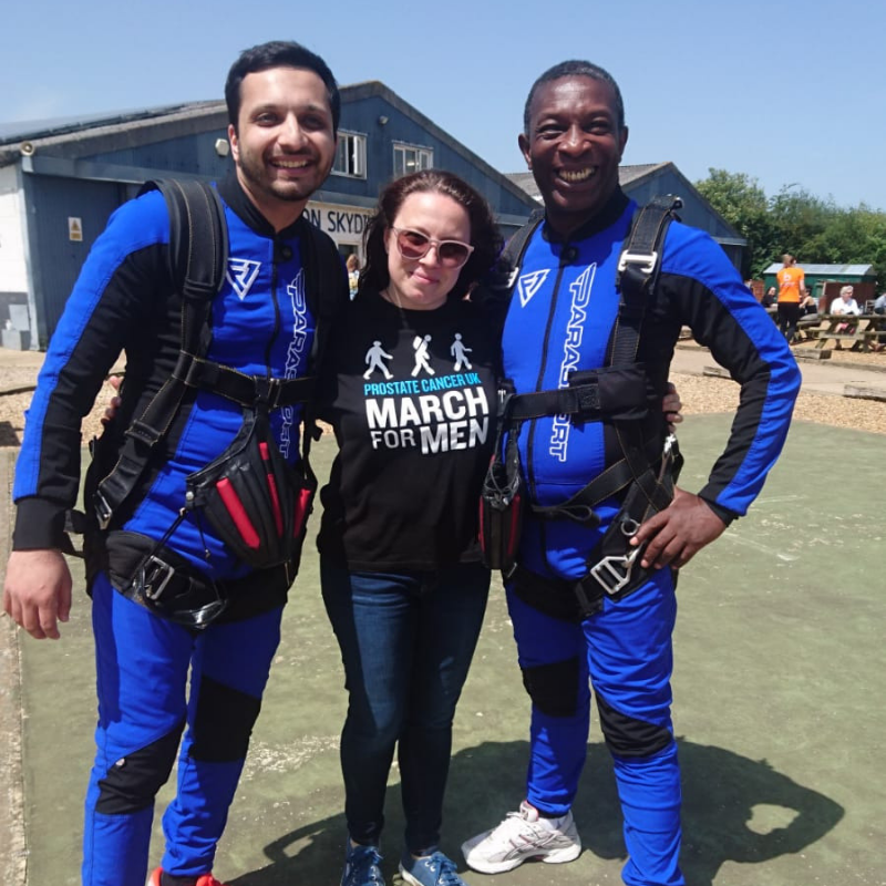 MDTi skydive image for Prostate Cancer UK