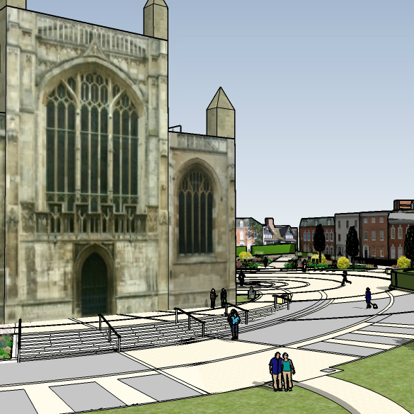 Cathedral Green: a new public space for Gloucester