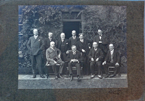 Group photograph taken at 1922 Festival - Herbert Brewer seated in centre