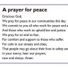 Open 'Prayer for Peace'