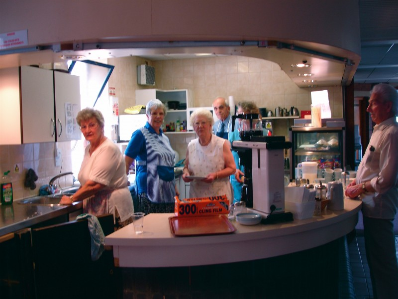 The Coffee Bar and some volunteers
