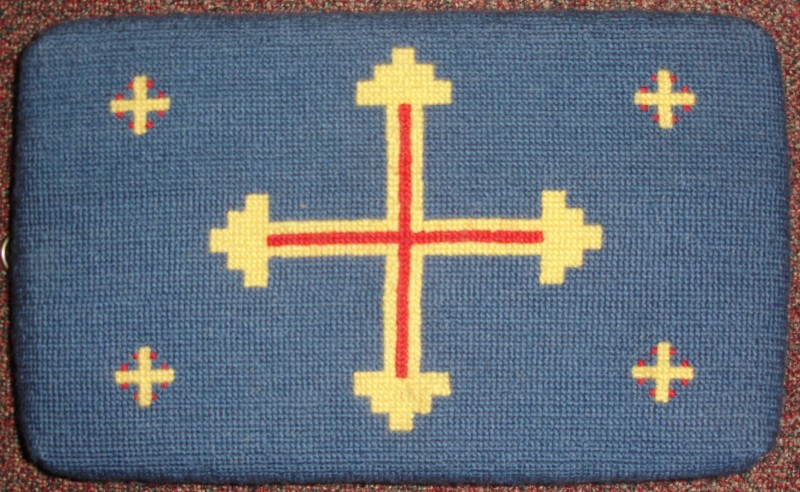 Tapestry kneeler from St Agnes church