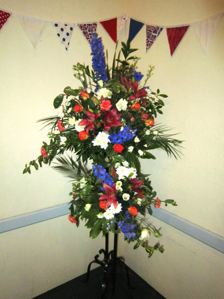 Flowers for the Jubilee - arranged by Lin Brown