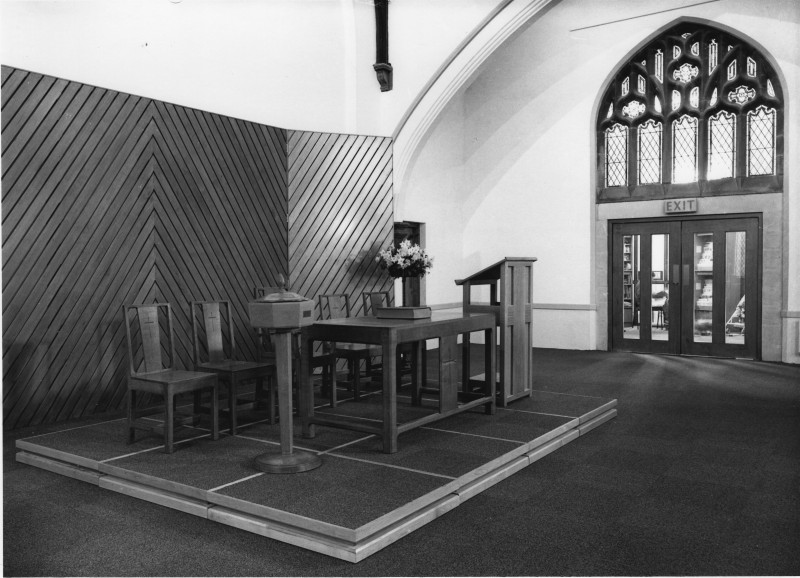 The new Cotteridge Church worship area - the Malvern Room February 1989