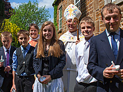 Bishop John and our 2014 confirmation class