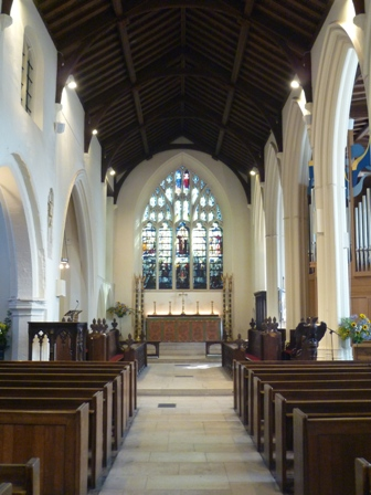 The new nave and chancel