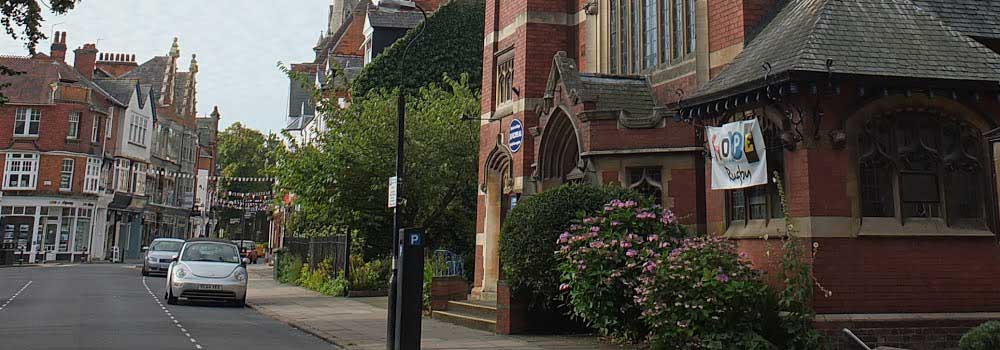 Rugby Baptist Church building in Regent Place