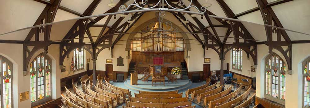 Rugby Baptist Church sanctuary