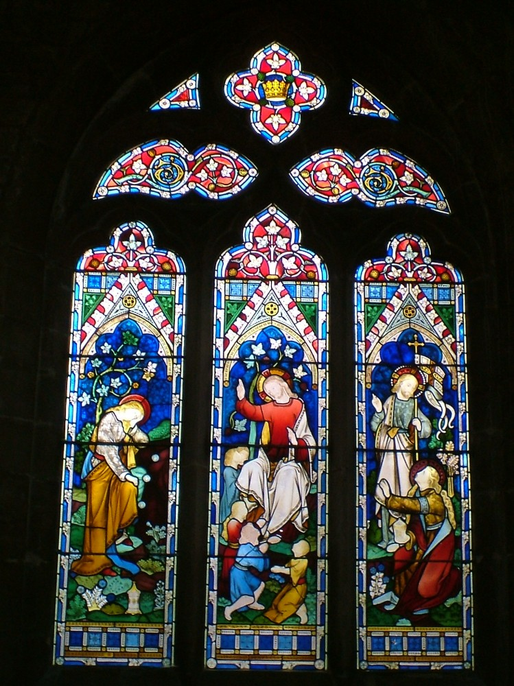 Stained glass window at Gosberton Parish Church