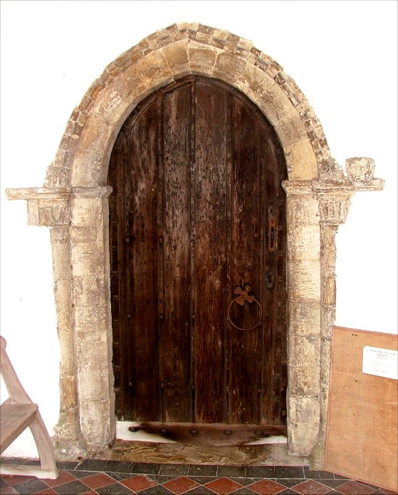 Small door in chancel